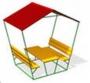 СКП 067 Стол со скамьями и навесом.