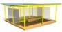 СКП 079 Теневой навес со стенками из поликарбоната  двойной