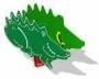 """Качалка на пружине для детей СКИ 033  """"Крокодил"""""""