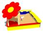 Песочница для детей «Цветок» СКИ 043