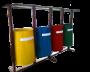 Модуль из урн для  раздельного сбора мусора СКП 016