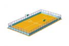 Площадка футбольная: Борт + Рабица 3м.